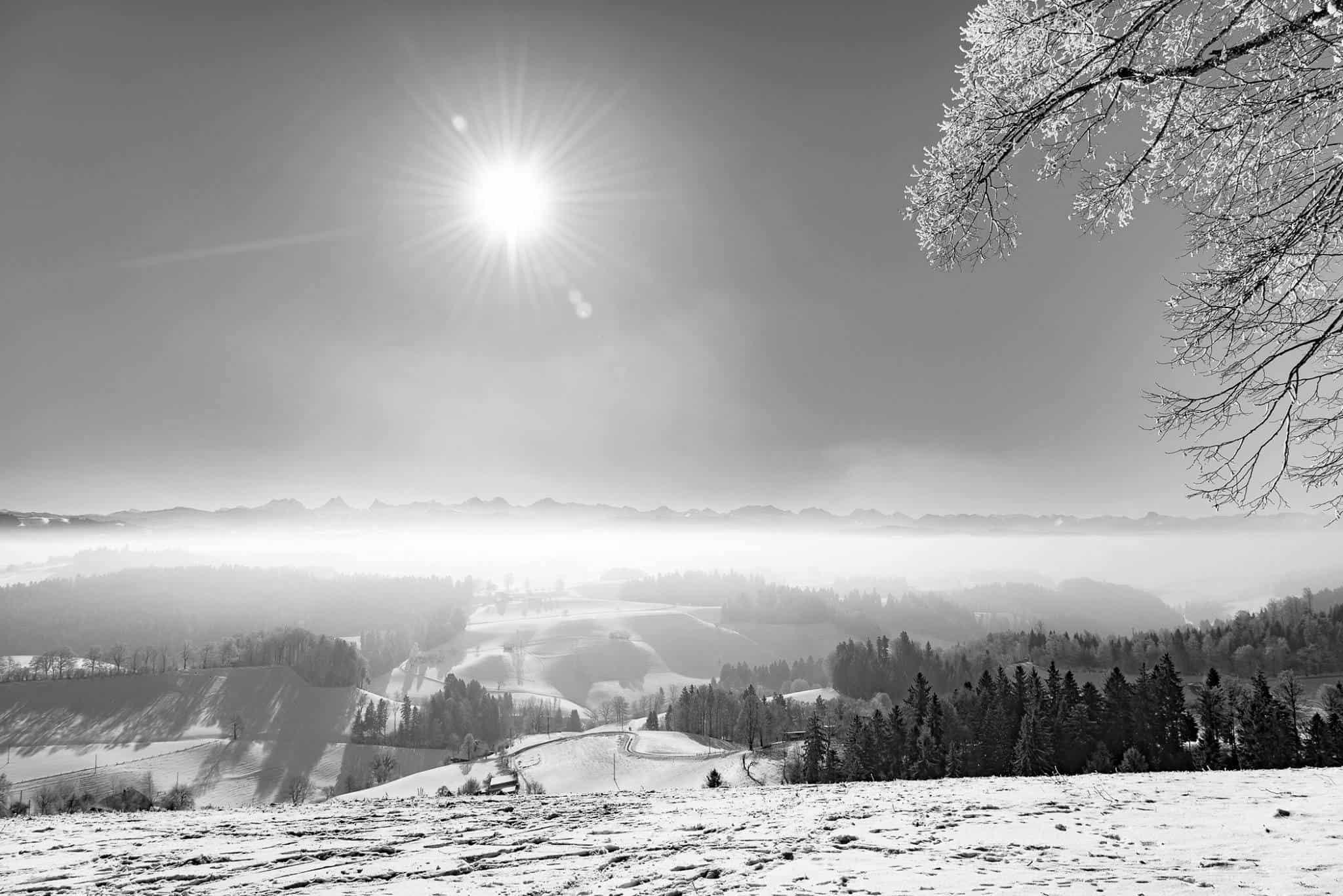 Landschaftsfotografie Winter Lueg