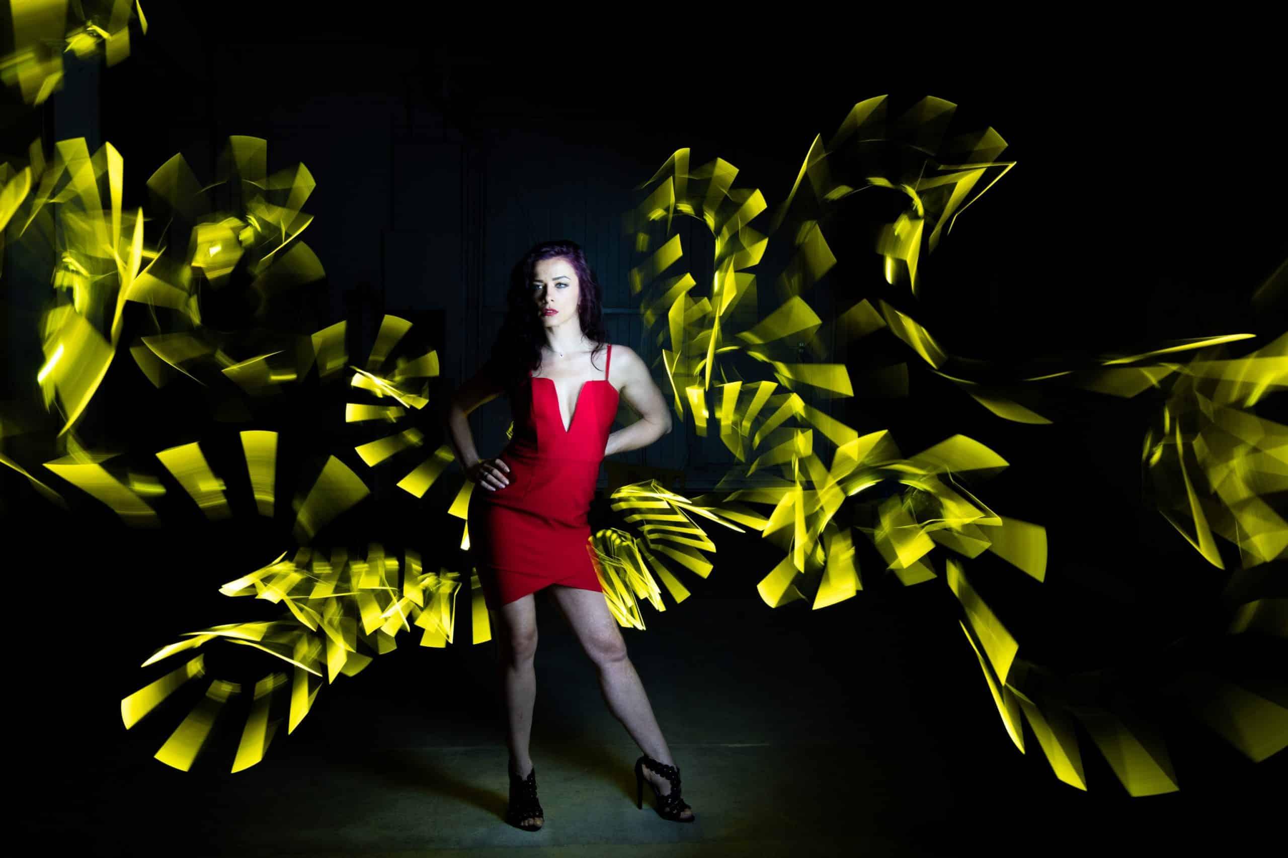 Lightpainting, Mahlen mit Licht, Fotoshooting